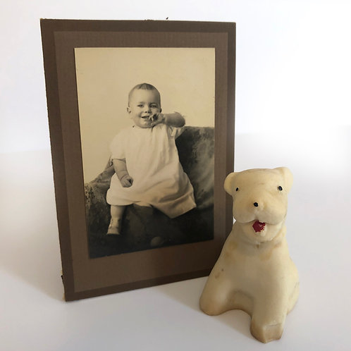 Vintage Cabinet Card and 'Chalk' Dog