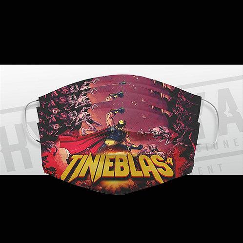 3 Cubrebocas diseño Comic Tinieblas jr y playera oficial Full Lucharte