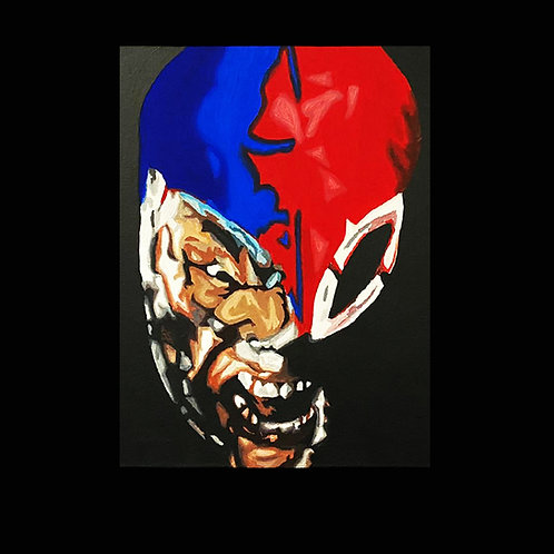 Pintura Original de Fuerza Guerrera