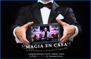 Show de magia online para tu fiesta - Mago en tu cumpleaños a través de zoom