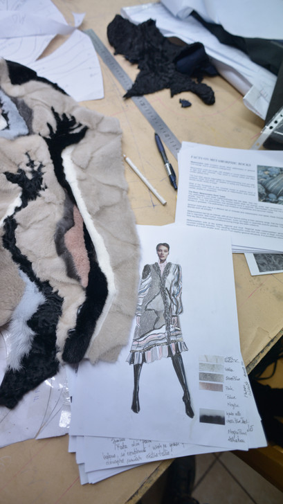 making of metamorph fur coat