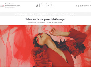 #LavaEgo featured on the homepage of Revista Atelierul
