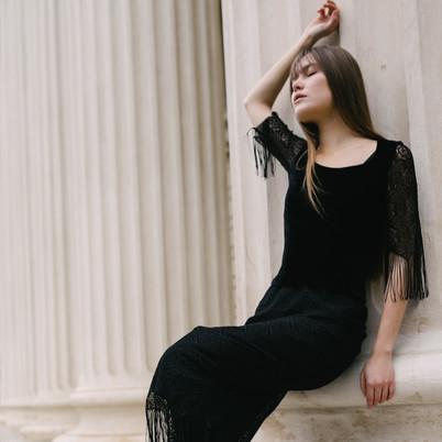 black velvet and lace