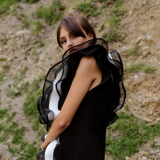 vest with ruffles