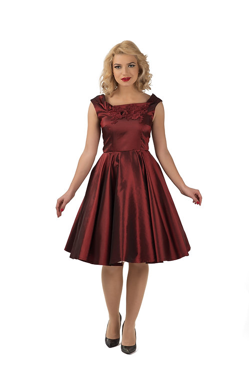 Dark Red Taffeta