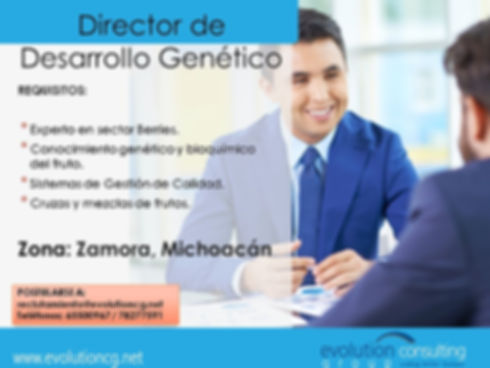 Flyer Director de Desarrollo Genetico -