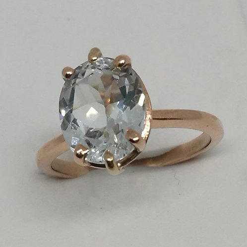 TOPAZ AND ROSE GOLD RING