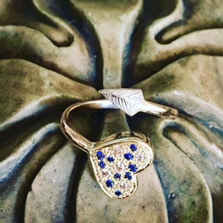 DRAGON HEART SAPPHIRE & DIAMOND RING