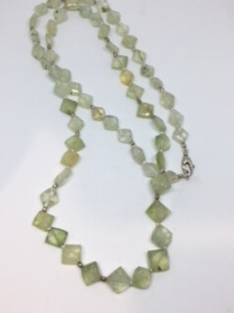NATURAL GREEN PYRITE NECKLACE