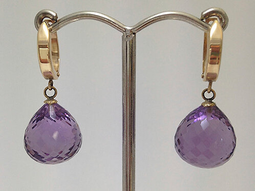 AMETHYST FACETTED EARRINGS
