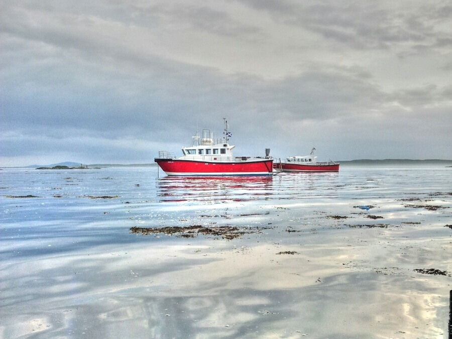Anchored at Leverburgh Pier
