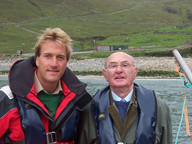Ben Fogle and Norman John Gillies