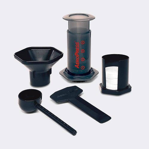 AeroPress coffee brewer kit including 350 filter disks