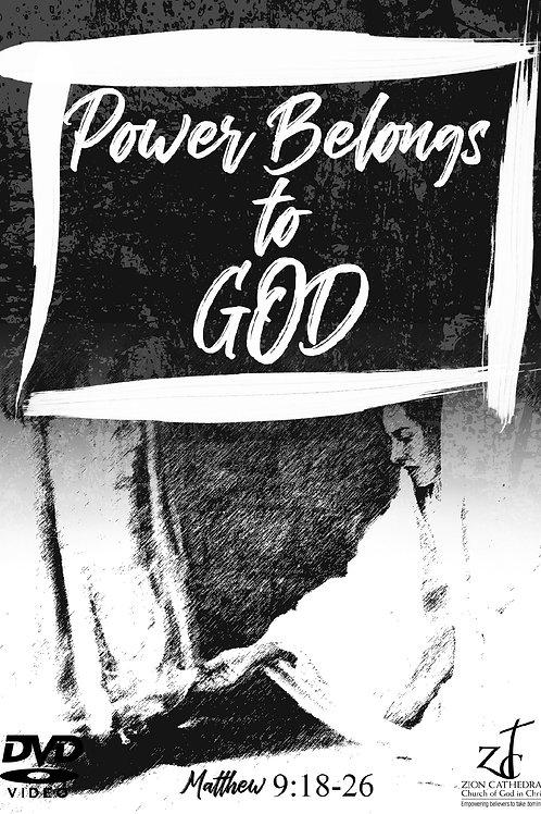 FAW-POWER BELONGS TO GOD | Matthew 9