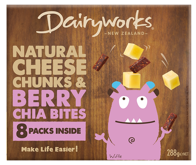 Natural Cheese Chunks & Berry Chia Bites