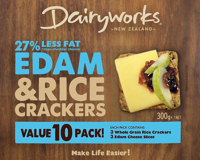 Natural Edam & Rice Crackers