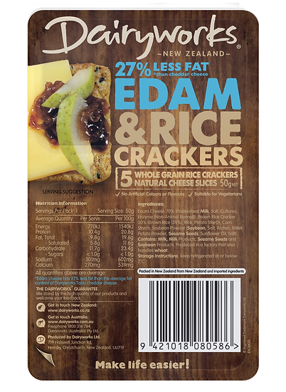 Dairyworks Edam Cheese & Crackers 50g
