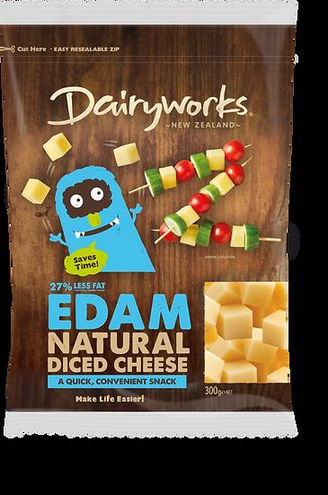 Edam Natural Diced Cheese 300g