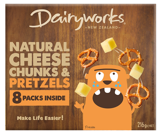 Natural Cheese Chunks & Pretzels