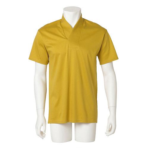 Men's半衿Tシャツ  『濃黄』