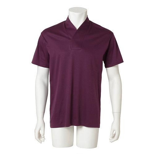 Men's半衿Tシャツ  『江戸紫』