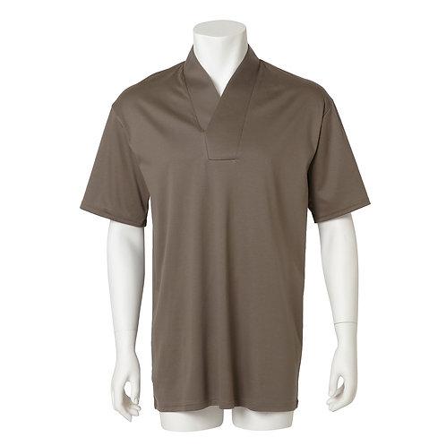 Men's半衿Tシャツ  『茶』