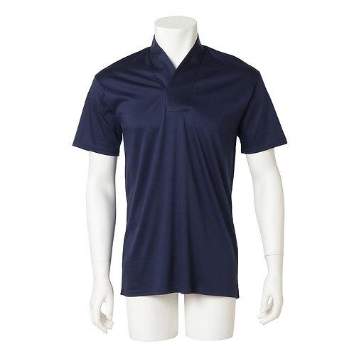 Men's半衿Tシャツ  『紺』