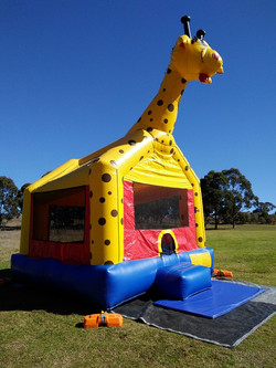 Lucy The Giraffe Jumping castle