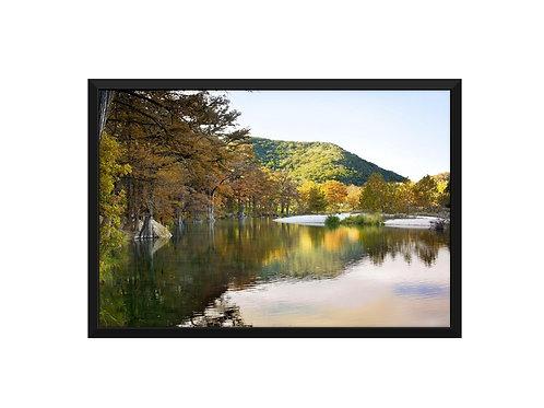 16 x 20 Framed Canvas Standout, Fall at Garner State Park