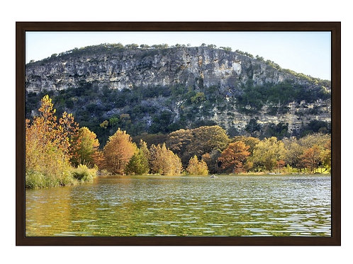 20 x 30 Framed Canvas Standout, Old Baldy in the Fall