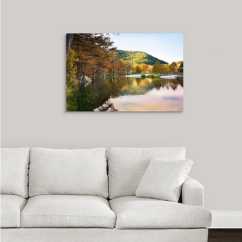 20x30 Traditional Canvas, Fall at Garner State Park
