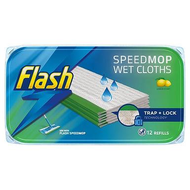 Flash Speedmop Wet Cloths x12