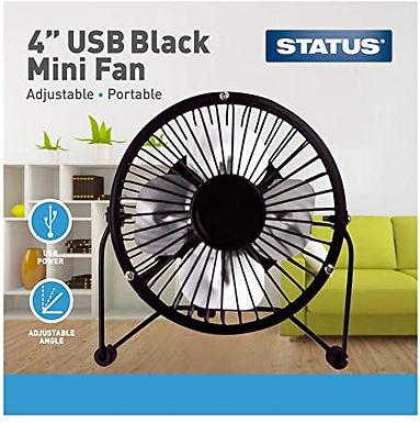 USB Black Mini Fan