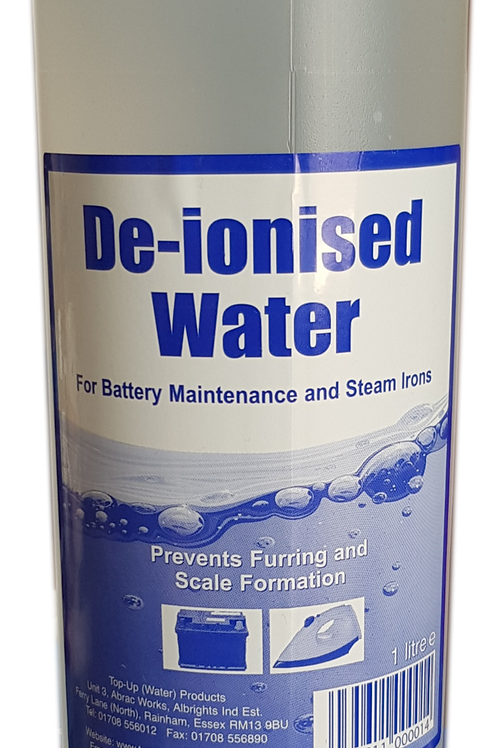 De-ionised Water 1L
