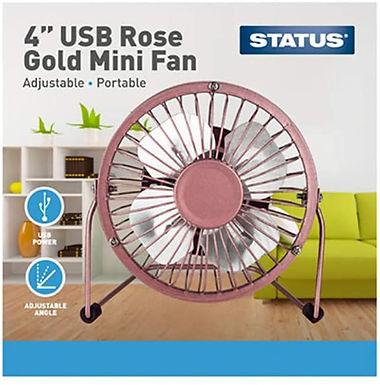 USB Rose Gold Mini Fan