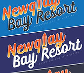 Close up of Newquay Bay Resort printed logos