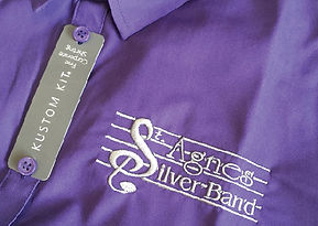 Embroidered purple shirt