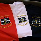 Tops with CAMRA Kernow logo embroidered