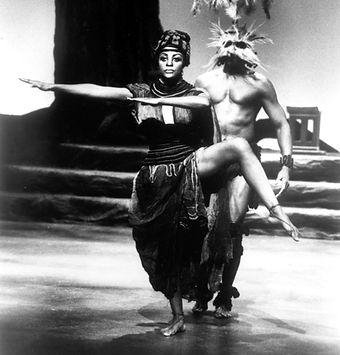 Dr. Glory dancing the roleof the Queen in Divine Drumbeats, directed by Katherine Dunham (1980).