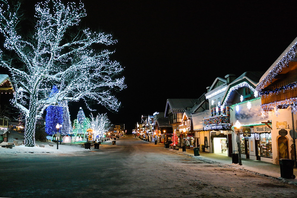 Downtown Christmas Lights Leavenworth Washington