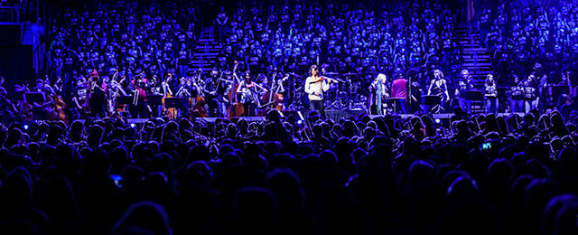Over 3,000 young orchestra, band, and choir students in a record-breaking performance in Sioux Falls, SD
