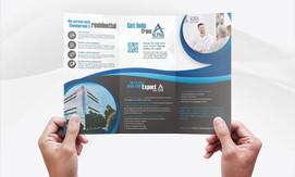 Diseño de folleto tríptico (exterior)