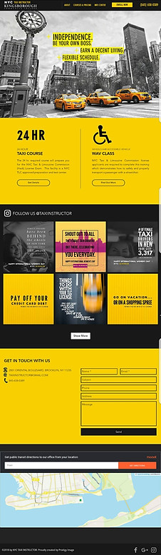 Instructor de taxis de Nueva York