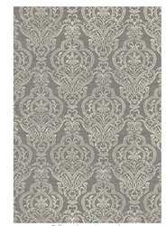 Mayberry Rugs STRATFORD Victoria traditional Area Rug, 5 x 8, Gray