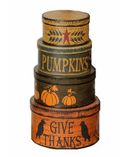 Your Hearts Delight Primitive Autumn Nesting Boxes, 5 by 9-Inch