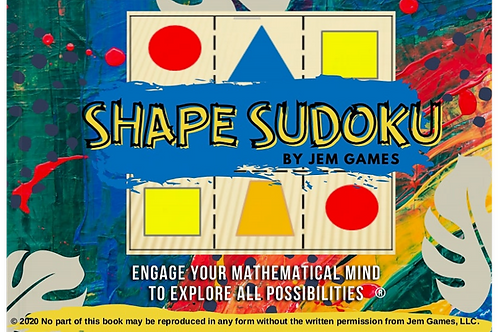 Printable Shape Sudoku Activity Book