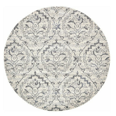 A2Z Rug Majesty Collection 6' - Feet Round Area Rugs, Ivory