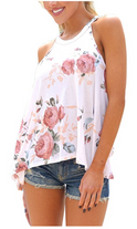 Sidefeel Women High Neck Floral Print Tank Top.PNG