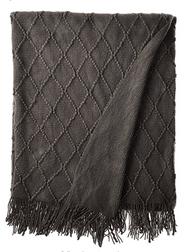 battilo Diamond Pattered Woven Decorative Throw Blanket