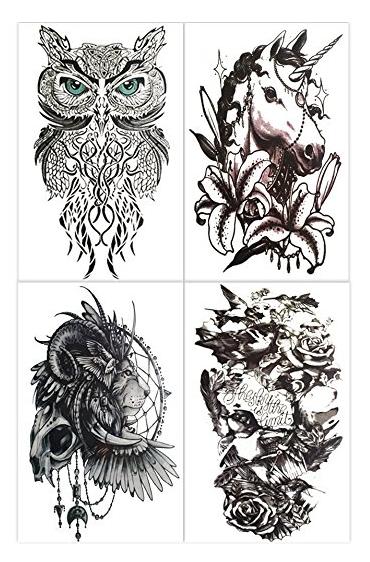 HAKUNA - 4 TATS: LION, SPARROW, UNICORN & OWL